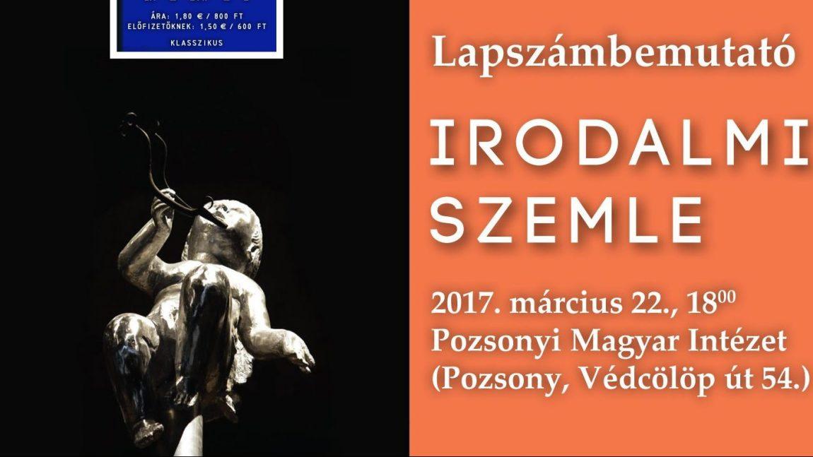 Lapszámbemutató Pozsonyban, március 22-én (Meghívó)