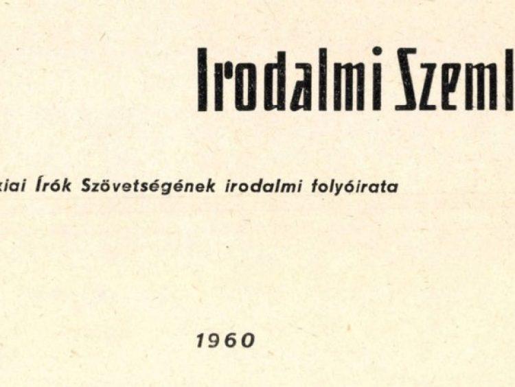 Hát van 60! — Irodalmi Szemle 1960/1