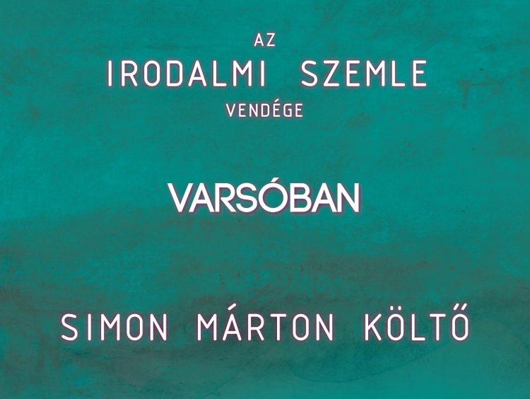 Az Irodalmi Szemle vendége Varsóban Simon Márton (meghívó)