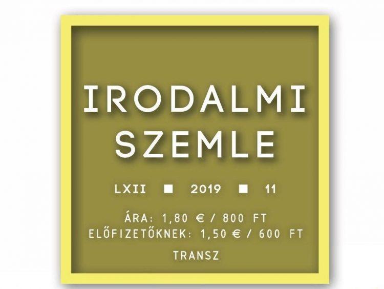 Transz – Az Irodalmi Szemle novemberi száma (tartalom)