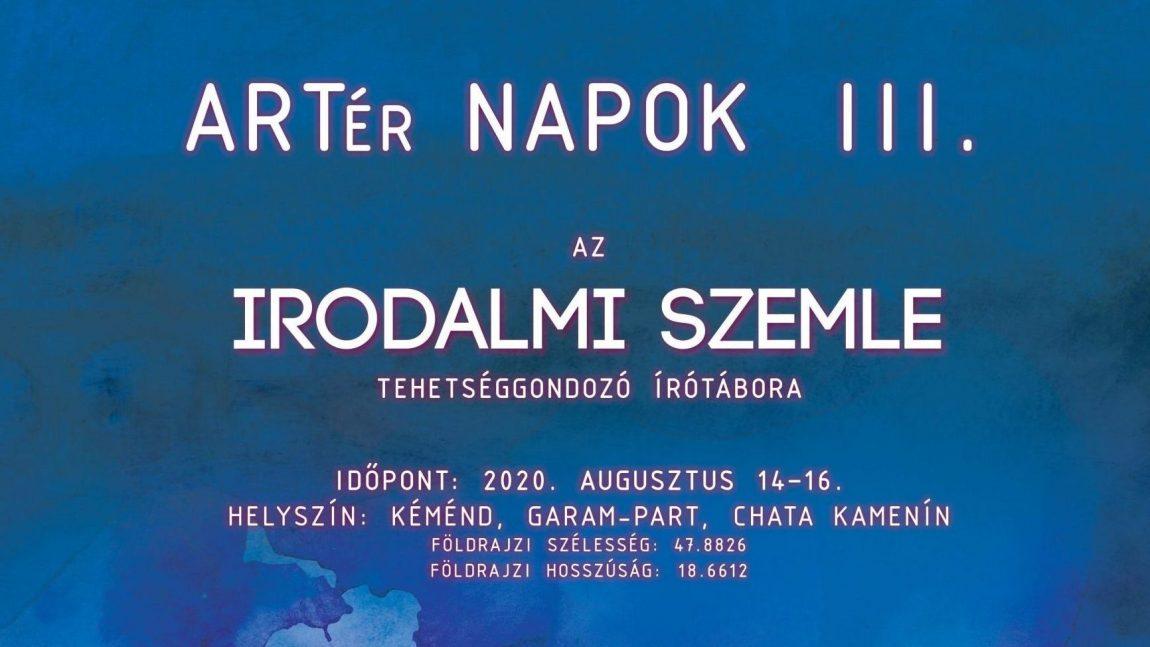 ARTér Napok III., 2020. augusztus 14-16., Kéménd (program)