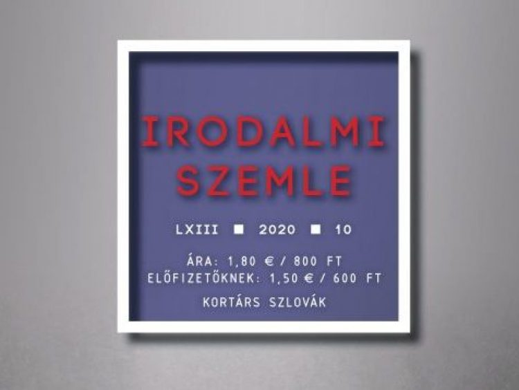 Kortárs szlovák — Az Irodalmi Szemle októberi száma (teljes)