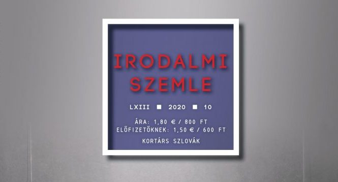 Kortárs szlovák — Az Irodalmi Szemle októberi száma (tartalom)