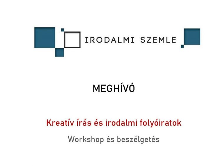 Kreatív írás és folyóirat (meghívó)